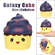 Decompression Toys, Xshuai 12cm Squishy Poo Galaxy Cake Scented Squishy Charm Super Slow Rising Relieve Stress Simulation Soft Toys Gift for Kids
