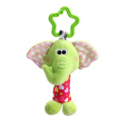 Sunwords Kids Baby Infants Handbell Bed Stroller Hanging Plush Elephant Lion Monkey Rattle Toy