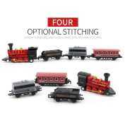 Christmas Train Set,Bescita Classical Alloy Retro Steam Simulated Joint Train Model Children Kids Toy Gift