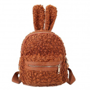 Domybest Cute Women Mini Backpacks Girls Plush Cute Shape Small Rucksack Shoulder Bag
