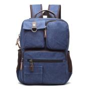 UEK Canvas Backpack Laptop Backpack Student School Backpack Hiking Bag