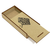 'Chocolate Bar' Wooden Pencil Case / Slide Top Box