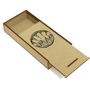 'Circle Pattern' Wooden Pencil Case / Slide Top Box