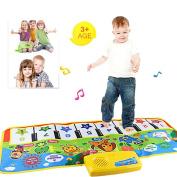Musical Carpet,FeiXiang Popular Touch Play Keyboard Musical Music Singing Gym Carpet Mat Best Kids Gift