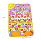 "Uarter Baby Play Mat - Music Carpet Mat Kids Sound Kids Learning Carpet with Fruits and Letters Interspersed, 28""x19"""