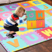 Memory Foam Mat Artistic9(TM) 36pcs Alphabet Numbers EVA Floor Play Mat Jigsaw Puzzle for Baby Room