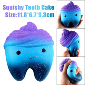 Jumbo Galaxy Squishy Toys,Wyurhjh® Teeth Shape Scented Squeeze Toy Slow Rising Stress Reliever Soft Toy for SBDX ADD ADHD Anxiety Autism Suffers