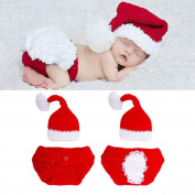 ZHUOTOP Newborn Crochet Knitted Hat+Shorts Infant Clothing for Christmas Festival Lovely
