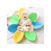 Bath Tub Seat for Baby, PurpleSalt® - Blooming Lotus Flower Baby Bath Seat Super Soft Cute Plush Bathtub Mat - Blue/Green