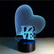 Lh & Fh Colourful 3D Touch Switch Gradient Visual Lamp Creative LED Acrylic Lamp , touch
