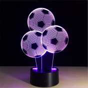 Lh & Fh Football Balloon 3D Colourful Touch Creative LED Visual Light Gift Atmosphere Lamp , remote