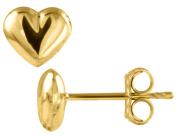 Baby Heart Earrings in 14K Yellow Gold