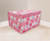 Jumbo Storage Chest Box Boxes Bedroom Room Storage Chest Box Trunk Pink Hearts Wilsons Direct