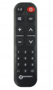 Geemarc TV10 Universal Remote Control with 19 programmable Buttons - Black