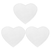 MagiDeal 3 Pcs Heart Transparent Unisex Anti-Wrinkle Chest Silicone Reusable Pads