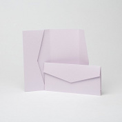 Lilac Pearlescent Pocketfold Invites 105mm x 215mm From Pocketfold Invites LTD