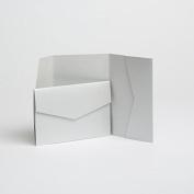Silver Pearlescent Pocketfold Invites 152mm x 102mm From Pocketfold Invites LTD