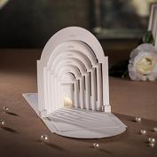 "Designer Laser Cut 3D Pop up ""Wedding in the Church"" White Wedding Invitation Cards, FREE matching envelop /insert card /seal"