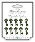 Craft Consortium - Vintage Metal Key Charms - Always and Forever The Wedding Collection