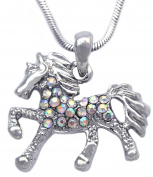 cocojewelry Small Aurora Blorealis Horse Pony Pendant Necklace Gril Jewellery