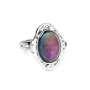 Gypsy Boho Adjustable Oval Colour Change Mood Ring Emotion Feeling Changeable Ring