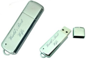 World's Best Wife Engraved 8GB USB Chrome Memory Stick with gift pouch