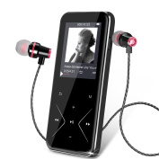 Bluetooth MP3 Player KLANGTOP Metal Music Players 8GB with Touch Button FM Radio Voice Record Function