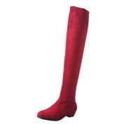 Boots Women, DoraMe Winter Autumn High Leg Suede Short Long Boots Flat Boots Shoes