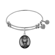 Angelica Collection White Brass Aim High Daughter U.S. AIR FORCE Bangle Bracelet