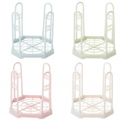 Restbuy 4 Pcs Plastic Dish Drainer Plate and Cutlery Rack for Drying Glasses,Silverware,Bowls,Plates