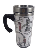 Iconic London Travel Mug With Handle Great London Souvenir