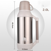 European-style solid colour Stainless steel thermos Vacuum flask,Household heat preservation pot Thermos Thermos flask Hot water bottle-A