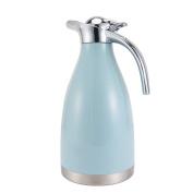 European simple vacuum flask Household heat preservation pot Stainless steel vacuum flask Pure colour vacuum flask Hot water bottle 2L bulk kettle-A 16x29.4cm