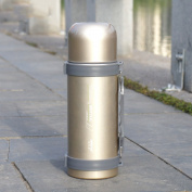 European simple vacuum flask, Stainless steel Vacuum Car Outdoor [portable] Travel vacuum flask Hot water bottle-B 26.5x8cm