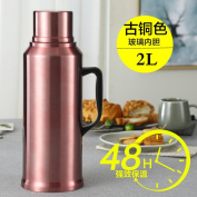 European pure colour vacuum flask Household stainless steel vacuum bottle Thermal carafes Thermos Hot water bottle boiled water bottle-B 13.5x37.5cm