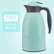European simple vacuum flask 1.9L Glass Heat preservation vacuum flask Large capacity insulation pot Boiled water bottle Office hot water bottle Coffee pots Thermal carafes-A 14x33cm