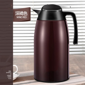 European simple vacuum flask Insulation pot 304Stainless steel Large capacity Household thermos flask Thermos Thermal carafes Thermos2L-D 29x14cm