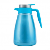 European-style solid colour Stainless steel vacuum flask Household vacuum flask Outdoor High capacity hot water bottle Pure colour warm kettle Boiled water bottle-A 14x23.5cm