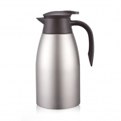European simpLe Vacuum fLask SoLid colour StainLess steeL insuLated pot Vacuum fLask,Home heating kettLe Thermos fLask 2L Hot water thermos-C 13.5x28cm