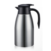 European simpLe Vacuum fLask SoLid colour StainLess steeL insuLated pot Vacuum fLask,Home heating kettLe Thermos fLask 2L Hot water thermos-A 13.5x28cm