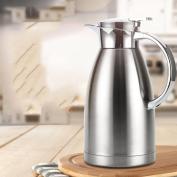 Stainless steel vacuum flask Vacuum vacuum flask Household vacuum bottle Commercial thermos Warm kettle bottle European hot water bottle Coffee pots1.8L-A 26.5x5.5cm