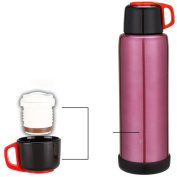 European simple vacuum flask Household use Stainless steel thermos Outdoor thermos Large capacity thermos bottle Vacuum thermos-A 8.5x25cm