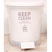 YANLIU Household foot trash caan, European creative office bedroom kitchen trash