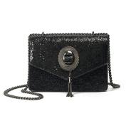 Spring Chain Handbags Korean Fashion Sequins Small Square Bag Fashion Tassels Shoulder Messenger Bag
