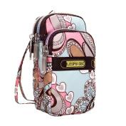 Wristlets Bag, HCFKJ Fashion Mini Wrist Handbag Outdoor Change Phone Bag Nylon Double Zipper Wrist Purses Wallet for Girls Boys