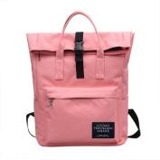 Backpack Girls, HCFKJ Fashion Nylon Handbag School Bag Women Ladies Travel Shoulder Backpack Bag Large Capacity Top Folded Zipper Hasp Satchel