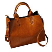 Womens Shoulder Bags, HCFKJ Fashion Ladies Top Handle Handbag Vintage Messenger Tote Bag Satchel for School