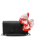 Moschino Women's Borsa Saffiano Pu Nero-logo Nero Handbag