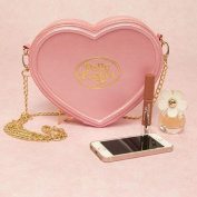 Official Licenced Ladies Polly Pocket Pink Heart Shaped Cross Body Bag Handbag