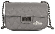 LiaTalia Quilted Genuine Italian Leather Evening Clutch Bag with a Dust Protection Bag - Carol